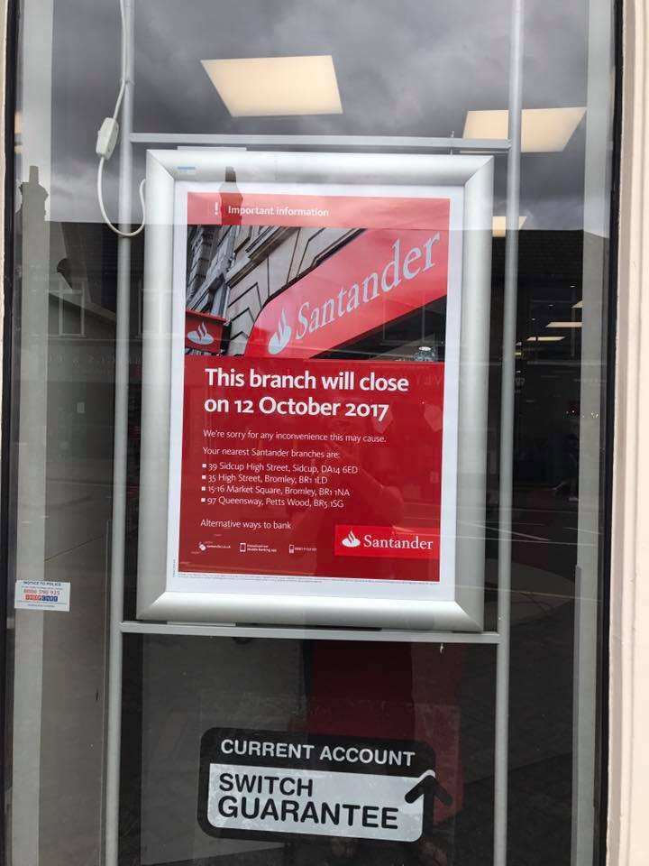 Santander is due to close on the High Street - Visit Chislehurst